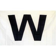 Wrigley Field Dark Blue W 3' x 5' Flag