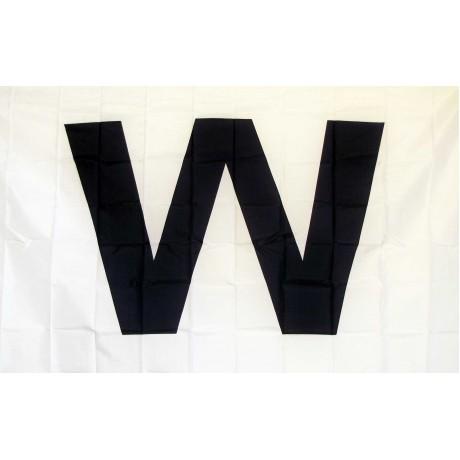 Wrigley Field Dark Blue W 3' x 5' Flag