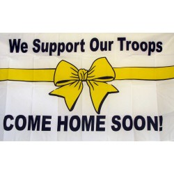 We Support Our Troops 3'x 5' Economy Flag