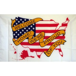 Welcome Home, We're Proud Of You 3'x 5' Economy Flag