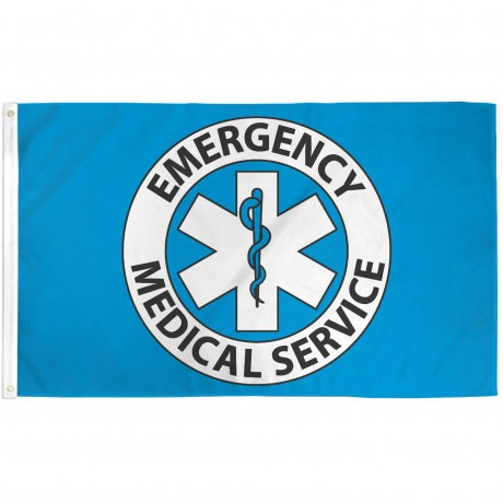 Emergency Medical Service 3' x 5' Polyester Flag