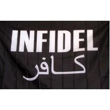 Infidel with Arabic Black 3'x 5' Novelty Flag