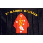 Marine 2nd Division 3'x 5' Flag