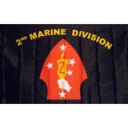 Marine 2nd Division 3'x 5' Flag