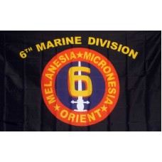 Marine 6th Division 3'x 5' Flag