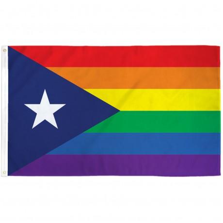 Puerto Rico Rainbow 3' x 5' Flag