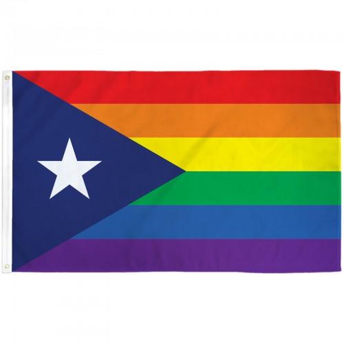 Atlanta Falcons Colors Red >> Puerto Rico Rainbow 3' x 5' Flag (F-1164) - by www ...