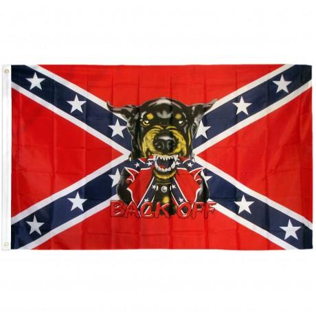 Back Off Rebel 3' x 5' Polyester Flag