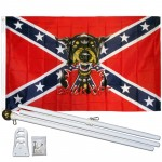 Back Off Rebel 3' x 5' Polyester Flag, Pole and Mount