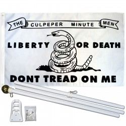 Don't Tread On Me Culpeper 3' x 5' Polyester Flag, Pole and Mount
