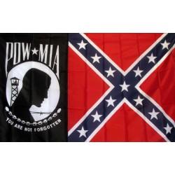 POW-MIA Rebel 3'x 5' Economy Flag