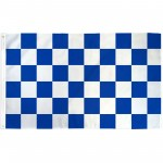 Checkered Blue & White 3' x 5' Polyester Flag