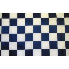 Checkered Blue & White 3'x 5' Flag