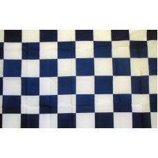 Checkered Blue & White 3'x 5' Flag
