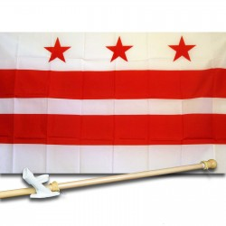 District of Columbia 3' x 5' Flag, Pole And Mount
