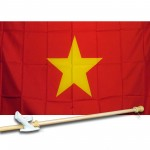 Vietnam 3' x 5' Polyester Flag, Pole and Mount