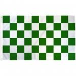 Checkered Green & White 3'x 5' Flag