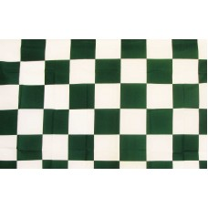 Checkered Green & White 3'x 5' Flag