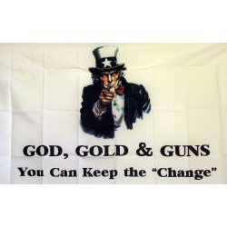 God, Gold, & Guns 3'x 5' Flag