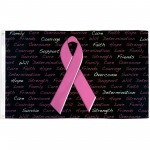 Breast Cancer Awareness Black 3' x 5' Polyester Flag