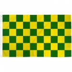 Checkered Green & Yellow 3' x 5' Polyester Flag