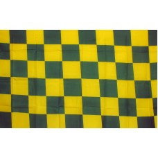 Checkered Green & Yellow 3'x 5' Flag
