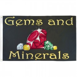 Gems and Minerals 3' x 5' Polyester Flag