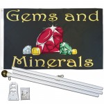 Gems and Minerals 3' x 5' Polyester Flag, Pole and Mount