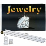 Jewelry 3' x 5' Polyester Flag, Pole and Mount