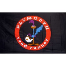 Black Road Runner 3'x 5' Flag