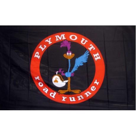 Black Road Runner 3'x 5' Flag