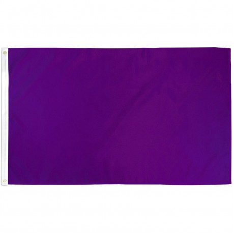 Solid Purple 3' x 5' Polyester Flag