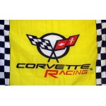 Corvette Yellow Checkered 3' x 5' Polyester Flag