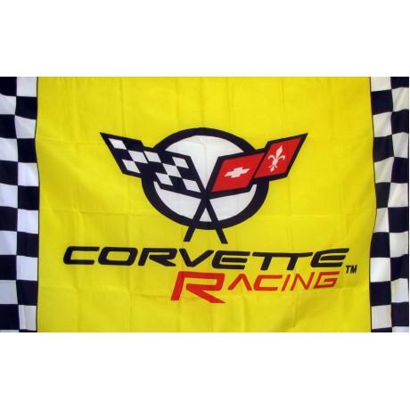 Corvette Racing Yellow 3'x 5' Flag 35