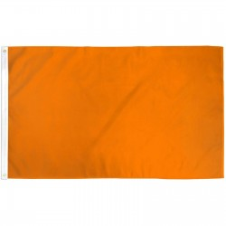 Solid Orange 3'x 5' Flag