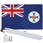 Queensland 3' x 5' Polyester Flag, Pole and Mount