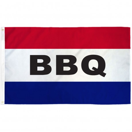 BBQ Patriotic 3' x 5' Polyester Flag