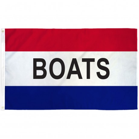 Boats Patriotic 3' x 5' Polyester Flag