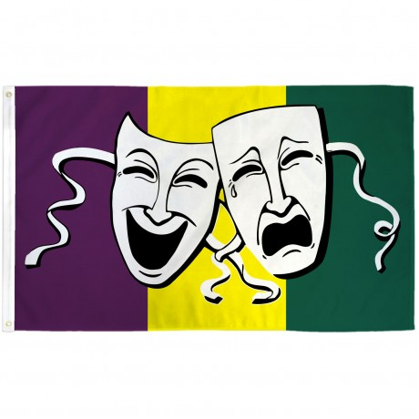 Thespian Comedy Tragedy 3' x 5' Polyester Flag