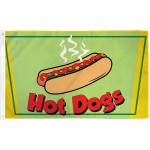 Hot Dogs 3' x 5' Polyester Flag