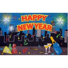 Happy New Year Premium 3'x 5' Flag