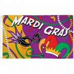 Mardi Gras Party Premium 3'x 5' Flag