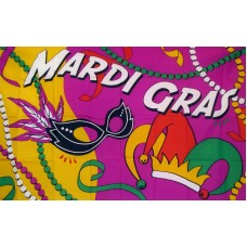 Mardi Gras Party Premium 3'x 5' Flag