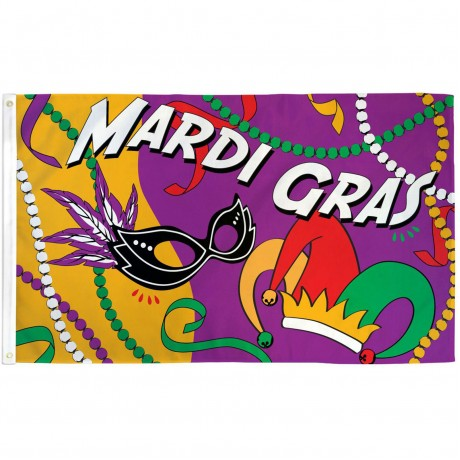 Mardi Gras Party 3' x 5' Polyester Flag