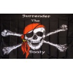 Surrender the Booty Pirate Premium 3'x 5' Flag