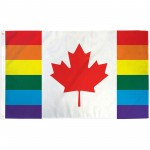 Canada Pride Rainbow 3' x 5' Polyester Flag