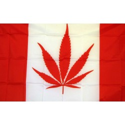 Canada Marijuana 3' x 5' Polyester Flag