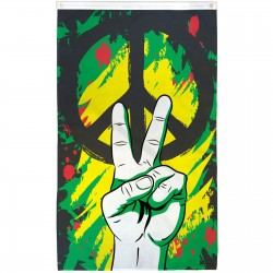 Peace Graffiti Vertival Premium 3'x 5' Flag
