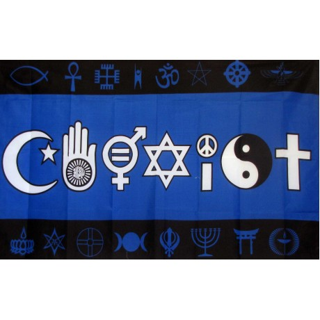 Coexist Blue 3' x 5' Polyester Flag