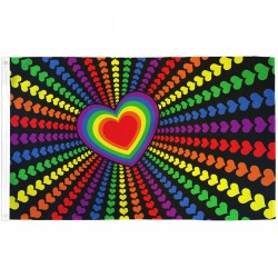 Rainbow Love 3' x 5' Polyester Flag